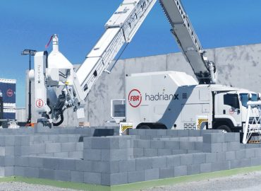 FBR bricklaying robot builds house walls in just four days
