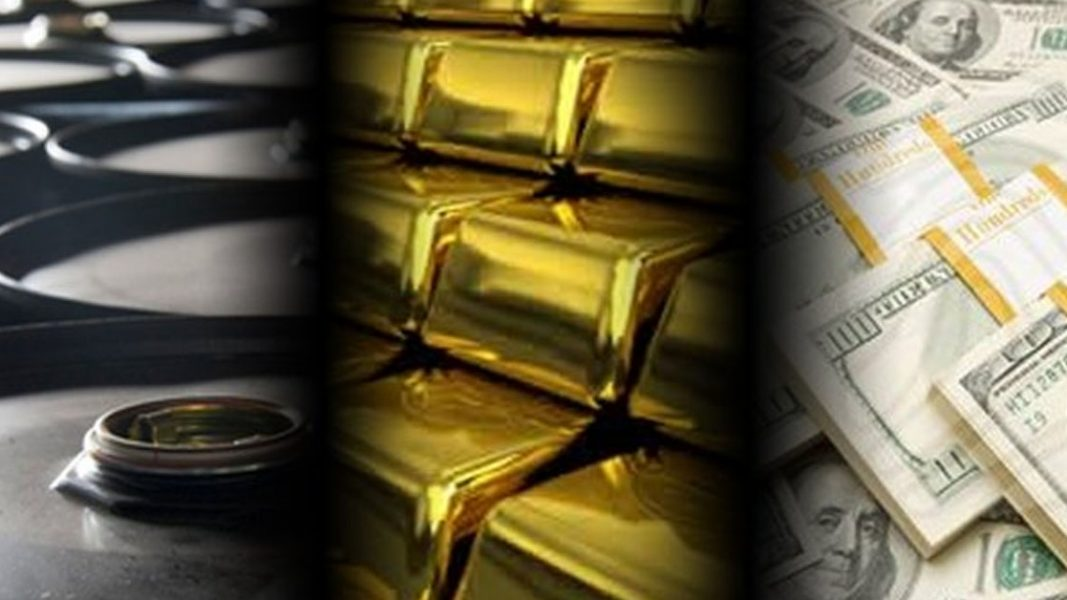 Oil prices fall, Gold rises as US dollar falls
